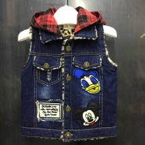 Vest neutral Yuyou spring and autumn Plush No model Single breasted Denim Cartoon animation Other 100% 6-16 Class B 18 months, 2 years old, 3 years old, 4 years old, 5 years old, 6 years old, 7 years old, 8 years old, 9 years old, 10 years old