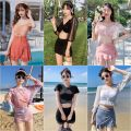 Split swimsuit other 353 orange, 353 blue gray, 207 black, 207 silver gray, 330 pink, 330 blue gray, 277 camouflage purple, 277 camouflage green, 276 dark green, 276 gray, 284 white, 284 black M,L,XL Skirt split swimsuit With chest pad without steel support polyester fiber female
