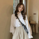 shirt Skirt, shirt S. M, average size Spring 2021 other 30% and below Long sleeves commute Regular stand collar Single row multi button pagoda sleeve 18-24 years old lady