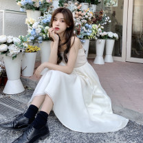 Dress Winter 2020 S. M, l, average size longuette singleton  Long sleeves commute High waist Solid color Socket Big swing camisole 18-24 years old Type A Korean version 30% and below other other