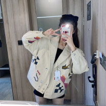Cotton padded clothes Picture color S,M,L Winter 2020 Other / other routine Long sleeves routine Single breasted commute tailored collar routine Abstract pattern Korean version Button , Embroidery 18-24 years old