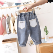 trousers Other / other neutral 90cm,100cm,110cm,120cm,130cm,140cm blue spring and autumn trousers Korean version No model Jeans cotton Jeans 12 months, 18 months, 2 years old, 3 years old, 4 years old, 5 years old, 6 years old, 7 years old, 8 years old, 9 years old