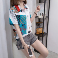 Women's large Summer 2021 white L [recommended 90-120 Jin], XL [120-140 Jin], 2XL [140-160 Jin recommended], 3XL [160-180 Jin recommended], 4XL [180-200 Jin recommended] shirt singleton  commute easy moderate Socket Short sleeve routine Three dimensional cutting routine Other / other 25-29 years old