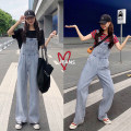 Jeans Autumn of 2019 blue S,M,L trousers High waist rompers routine 18-24 years old Cotton denim light colour Other / other 71% (inclusive) - 80% (inclusive)