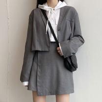 Fashion suit Spring 2021 M, L Grey suit, grey skirt, black suit, black skirt