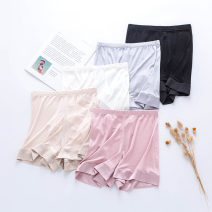 Leggings Summer 2021 White, black, gray, skin color, rubber red M,L,XL Thin money shorts silk