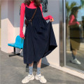 Dress Autumn 2020 Average size longuette singleton  Sleeveless commute Crew neck High waist Solid color Socket A-line skirt routine camisole 18-24 years old Type A Other / other Korean version Resin fixation 81% (inclusive) - 90% (inclusive) corduroy cotton