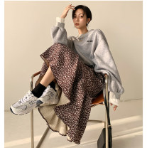 skirt Spring 2021 S,M,L Black, brown longuette commute High waist A-line skirt Broken flowers Type A 18-24 years old 71% (inclusive) - 80% (inclusive) corduroy Other / other other printing Korean version