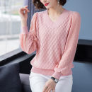 Wool knitwear Spring 2020 M,L,XL,XXL,XXXL Blue, yellow, white, black, apricot, pink Long sleeves singleton  Socket other More than 95% have cash less than that is registered in the accounts Thin money commute easy V-neck routine Solid color Socket Korean version MX20056 Charm