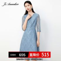 Dress Spring 2021 Pink blue, pink XS,S,M,L,XL,2XL,3XL,4XL Mid length dress singleton  Long sleeves commute other High waist other Socket other routine 30-34 years old Type X Anna Ko Simplicity JTBC50033 other