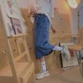 skirt Summer 2021 M, L Black, blue Mid length dress commute High waist Denim skirt Solid color Type A 18-24 years old 91% (inclusive) - 95% (inclusive) Denim cotton Retro
