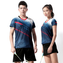 Badminton wear For both men and women Li Ning VIP 1007 Men's blue and white suit, women's blue and white top with black skirt, women's blue and white top with white skirt 50. S, larger, m, XXL, XL, XXXL