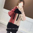 Wool knitwear Autumn 2020 S,M,L,XL,2XL Blue yellow, Grey Pink, coffee red Long sleeves singleton  Socket other 31% (inclusive) - 50% (inclusive) Medium length routine commute easy Hood routine Solid color Socket Korean version Splice, threaded