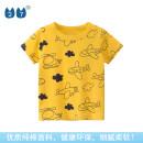 T-shirt yellow 27KIDS 110cm,100cm,90cm,140cm,130cm,120cm neutral summer Short sleeve Crew neck Korean version No model Pure cotton (100% cotton content) Cartoon animation Class A other