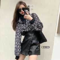 Fashion suit Spring 2021 S. M, average size Black shirt, white shirt, black leather skirt, card color leather skirt 18-25 years old