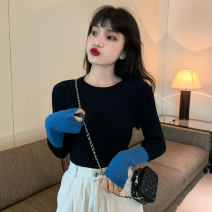 Wool knitwear Spring 2021 Average size White, black, pink Long sleeves singleton  Socket other More than 95% Regular thickening commute Self cultivation routine Color matching Socket Korean version 18-24 years old
