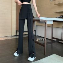 Casual pants Black, white S,M,L Summer 2021 trousers Straight pants High waist routine 18-24 years old