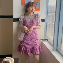Fashion suit Summer 2021 Average size Polka Dot Shirt, dress 18-25 years old