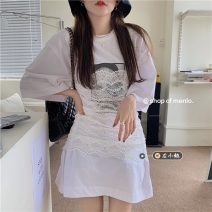 Fashion suit Summer 2021 Average size T-shirt 3677, lace suspender skirt 3678# 18-25 years old