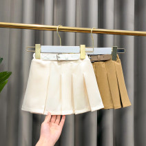 skirt Apricot, coffee Other / other female Other 100% spring and autumn skirt Korean version other Pleats other Class B