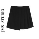 skirt Summer 2021 S,M,L black Short skirt commute High waist A-line skirt Solid color Type A 18-24 years old 51% (inclusive) - 70% (inclusive) other polyester fiber Korean version