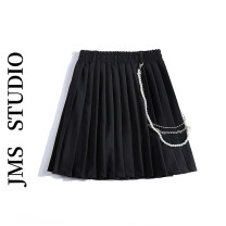 skirt Summer 2021 S,M,L,XL black Short skirt commute High waist A-line skirt Solid color Type A 18-24 years old 51% (inclusive) - 70% (inclusive) other other Splicing Korean version