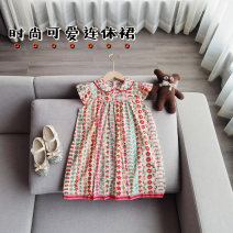 Dress Apricot female Other / other The recommended height is about 85CM for Size 90, 95cm for size 100, 105cm for Size 110, 115cm for Size 120, 125cm for Size 130 and 135cm for size 140 Other 100% summer Sweet Short sleeve Broken flowers other A-line skirt Chinese Mainland