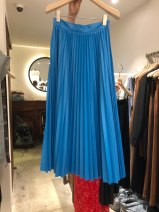skirt Spring 2021 S,M,L,XL blue Mid length dress commute High waist A-line skirt Solid color 25-29 years old 30% and below other Korean version