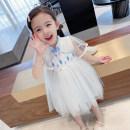 Dress Blue, pink female Other / other 90cm (recommended height about 90cm), 100cm (recommended height about 100cm), 110cm (recommended height about 110cm), 120cm (recommended height about 120cm), 130cm (recommended height about 130cm) Cotton 85% others 15% summer Korean version Short sleeve other