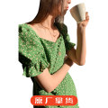 Dress Spring 2021 Wizard of Oz XS,S,M,L Short sleeve commute High waist Broken flowers Socket A-line skirt puff sleeve 25-29 years old More than 95% cotton