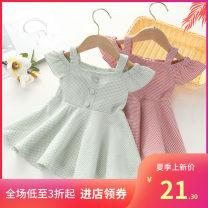 Vest female Green, pink 80cm,90cm,100cm,110cm,120cm Other / other lattice 3 months