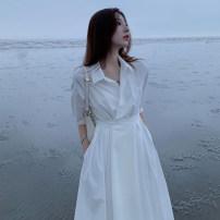 Dress Summer 2021 white S,M,L,XL Soaino 2138 bulk spot - 48540