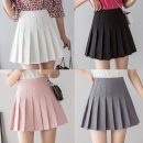 skirt Spring 2021 S [waist 64-65cm], XXL [waist 76-77cm, XL [waist 73-74cm], m [waist 67-68cm], l [waist 70-71cm] Black, white, grey, pink longuette commute Pleated skirt Solid color 18-24 years old 331E611225 51% (inclusive) - 70% (inclusive) other other Splicing