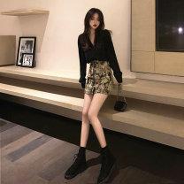 Fashion suit Summer 2020 S,M,L black 91% (inclusive) - 95% (inclusive) nylon