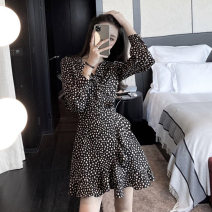 Women's large Spring 2020 Black, black dress 1=S,2=M,3=L,4=XL Dress Two piece set commute easy moderate Socket Long sleeves Korean version other Medium length Three dimensional cutting routine 25-29 years old 81% (inclusive) - 90% (inclusive) Medium length other tassels
