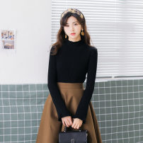 Wool knitwear Autumn 2020 Average size White, black Long sleeves singleton  Socket other 51% (inclusive) - 70% (inclusive) have cash less than that is registered in the accounts thick commute Self cultivation Half height crew neck routine Solid color Socket Korean version