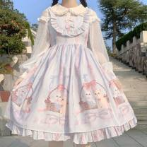 Lolita / soft girl / dress other Blue suspender skirt, pink suspender skirt One size fits all, no lining and accessories