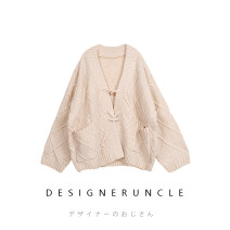 Wool knitwear Winter of 2019 XS,S,M,L Beige Long sleeves singleton  Cardigan acrylic fibres 31% (inclusive) - 50% (inclusive) Regular routine commute easy V-neck routine Single breasted Korean version E110302 18-24 years old Designer uncle