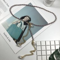 Belt / belt / chain Metal White, red, gold, gray, black, violet, coffee, pink female Waist chain leisure time Single loop Youth, youth, middle age a hook 0.5cm Beads, chains Other / other lfd63-6 120cm