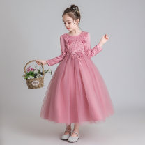 Children's dress White, bean paste color, this does not add cashmere, according to the height of one yard, for example, height 120 beat 130 female 120cm,130cm,140cm,150cm,160cm,170cm Celeste other Cotton 100% princess