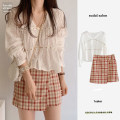 Fashion suit Autumn 2020 S,M,L,XL Plaid skirt_ Quality version, white top_ Quality Edition 18-25 years old Other / other