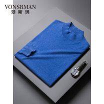 T-shirt / sweater Vonsrman / fansima Fashion City 165/S,170/M,175/L,180/XL,185/XXL,190/XXXL routine Socket Do not turn high collar Long sleeves NK8731 Straight cylinder leisure time Business Casual youth routine Solid color washing jacquard weave