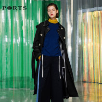 Windbreaker Summer of 2019 34,36,38,40 BLACK Long sleeves routine Medium length Solid color Self cultivation Ports 25-29 years old 51% (inclusive) - 70% (inclusive) polyester fiber polyester fiber