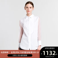 shirt Sky blue 2,4,6,8,10,12 Spring of 2018 cotton 96% and above Long sleeves Versatile Regular Polo collar Single row multi button routine Solid color 30-34 years old Self cultivation Ports LV8B125XWC030