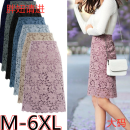 skirt Spring 2020 M (85-100 Jin), l (100-115 Jin), XL (115-130 Jin), 2XL (130-145 Jin), 3XL (145-160 Jin), 4XL (160-175 Jin), 5XL (175-190 Jin), 6xl (190-205 Jin) Black, light purple, khaki, sky blue, blue, black plush, light purple plush, khaki plush, sky blue plush, Blue Plush Middle-skirt gorgeous