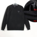 Sweater Youth fashion Others Black (high end style) XL (about 120 kg), 2XL (about 135 kg), 3XL (about 150 kg), 4XL (about 165 kg), 5XL (about 180 kg) Solid color Socket Plush Crew neck