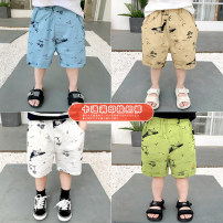 trousers Siliba male 90cm,100cm,110cm,120cm,130cm summer Pant Korean version There are models in the real shooting Casual pants Leather belt middle-waisted cotton Don't open the crotch Cotton 100% Class B 2 years old, 3 years old, 4 years old, 5 years old, 6 years old, 7 years old, 8 years old