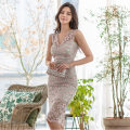 Dress Summer 2020 Picture color S,M,L,XL Middle-skirt singleton  Sleeveless commute V-neck High waist Type X Other / other Korean version Lace