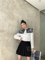 skirt Winter 2020 XS,S,M,L,XL black Mid length dress commute High waist A-line skirt Type A 18-24 years old 30% and below acrylic fibres