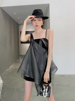 Dress Summer 2021 black S,M,L Short skirt singleton  commute High waist other 18-24 years old Type A Other / other Korean version